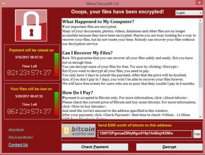 WannaCry ransomware attack.