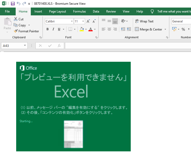 The emails include an attachment containing a macro embedded into an Excel spreadsheet
