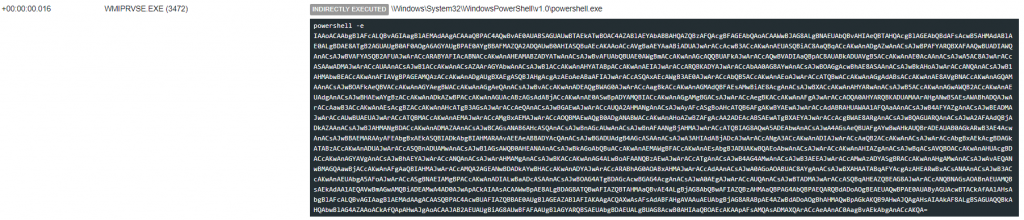 Base64 encoded PowerShell command viewed in BEC